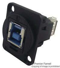 Cliff Electronic Components - CP30206N - Feedthru, Usb3, B To A, Black Plastic