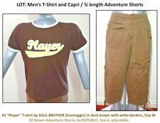 """LOT: Men's EISENEGGER """"Player"""" T-shirt size M & REPUBLIC Capri Shorts size S"""