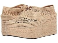 Clergerie 259418 Womens Pollux Wedge Sandal Natural Raffia Size 6.5 Medium