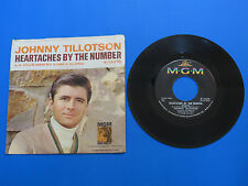 """JOHNNY TILLOTSON ~ HEARTACHES BY THE NUMBER ~ 7"""" SINGLE VINYL 45 RPM RECORD ~"""