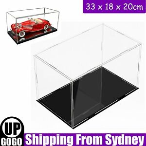 33cm Acrylic Plastic Display Case Box Dustproof Dustproof Protection Transparent