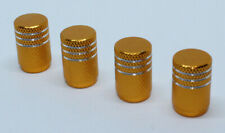 Pack of 4 Aluminium Valve Caps Dust Caps for Schrader Auto Valve Gold