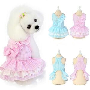 Dog Skirt Pet Dress Small Pet Dog Cat Lace Princess Tutu Dress Puppy Cat Clothes