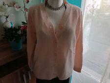 Strickjacke casuel wear pastell rosa Gr.M/L 38/40/42 weich