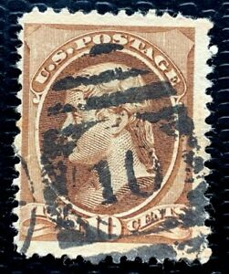 1879 US Stamp SC #187 10c  Jefferson Used