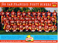 1958 SAN FRANCISCO FORTY NINERS 8X10 TEAM PHOTO TITTLE CALIFORNIA FOOTBALL NFL