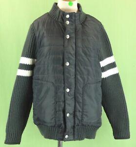 356 Hanna Andersson Boys Gray jacket Fall Spring Fleece Lined EUC 140 (10-12Y)