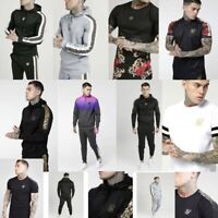 Mens Designer Sik Silk Siksilk King Short Sleeve T Shirt Tracksuit Hoodie Gym
