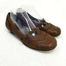 BORN Artisan Genuine Leather Size 8 Mary Jane Low Heel Buckle Shoes Brown