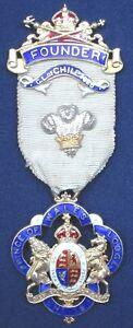 Masonic Silver Founder Jewel Prince of Wales Lodge No 19 Chile 1926