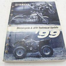1999 Yamaha Motorcycle Atv Technical Update Factory Manual Book Lit-17500-00-99