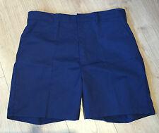 "Klopman Navy Cotton Twill Sailor Work Shorts Size 92cm or 36"" Waist Length 20"""