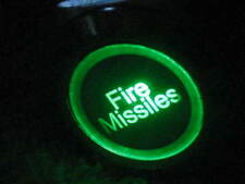 12V GREEN LED Fire Missiles MOMENTARY Metal Switch 19mm Push Button Lighted fu