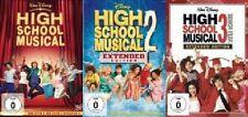 3 DVDs High School Musical 1+2+3 (Highschool) Neu/OVP