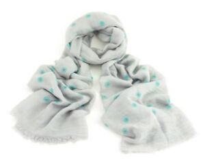 BNWT Grey Delicate Daisy Floral Print Unusual Polycotton Scarf Hijab Sarong