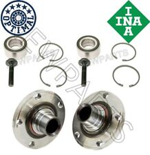 For Audi A4 A6 VW Passat Set Pair of Front Left & Right Wheel Hubs w/ Bearings