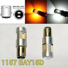 Brake Light 1157 3496 7528 BAY15D Amber + White Switchback SMD LED M1 AW R