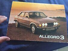 1981 British Leyland Austin Allegro 3 Color Brochure Prospekt