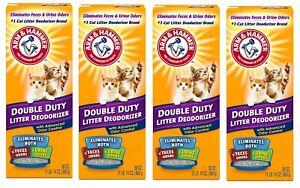 Arm & Hammer Double Duty Cat Litter Box Deodorizer 30 oz - Pack of 4 (30 x 4) ✔️