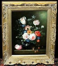 Williams Original Still Life Oil Painting on Panel Signed 16x12 in Flemish Style