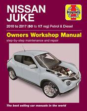 Haynes Manual de reparación de 6380 Nissan Juke 2010 a 2017 (60 - 17 Diesel Gasolina Reg)