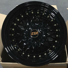 "17"" ESR SR3 Wheels 17x8.5 Gloss Black For VW Golf Jetta MK4 5x100 +30 Rims Set 4"