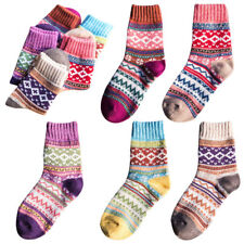 Pairs of 5 Ladies Women Girls Warm Wool Thick Winter Sock Nordic Novelty Sock UK