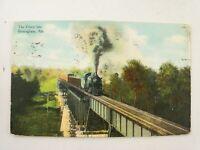 Vintage 1909 The Frisco Railroad Locomotive into Birmingham Alabama AL Postcard