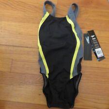 girl's youth Speedo one piece bathing/swim suit black size 6/22 new NWT $69