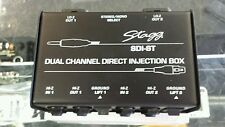 Stagg Direct Injection Box DI SDI-ST Stereo Mono Ground Lift Dual Channel