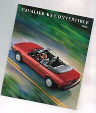 1991 Chevy CAVALIER RS CONVERTIBLE Brochure / Catalog with Color Chart