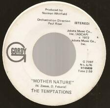 "Temptations ""Mother Nature""  7"" Vinyl Northern Modern Motown Soul Gordy Demo"