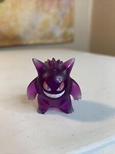 GENGAR Pokemon TOMY Mini Figure - Translucent Purple - VINTAGE GENUINE OFFICIAL