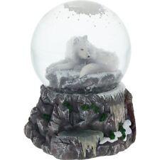 Lisa Parker Guardian Of The North Snowglobe White Wolf Snowglobe Water Globe