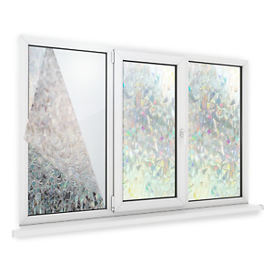 3D Privacy Window Film Non-Adhesive Frosted Pattern Glass M&W