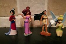 4 Disney Princes figures Mulan Meg Pocahontas Tinkerbell et cake topper (MISC)
