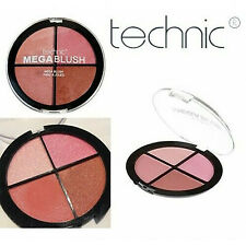 Technic Mega Blush tavolozza-QUAD ROSA fard contorno naturale luce Shimmer