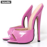 Women 18cm EXTREME High Heel Shoes Peep Toe Sexy Slippers Stiletto Man Sandals X