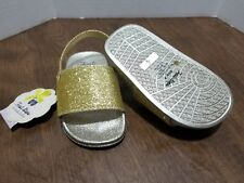 First Steps by Stepping Stones - Gold Glitter Sandals Size 4 Nwt Ir10