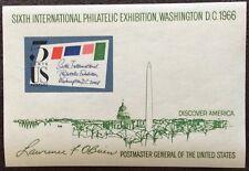 1966 USA 6th international philatelic exhibition minisheet