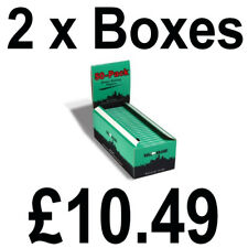 2 Full Boxes of 50 Bull Brand Green Corner Cut Rolling Cigarette Papers Free P&P