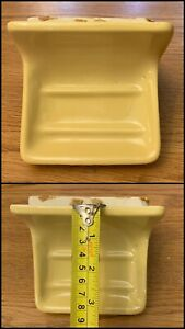 Vintage Ceramic Soap Dish Yellow Bathroom Fixture Wall Mounted Mid Century 1970s
