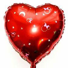 R50F12 Helium Folienballon Disney Micky Minnie Maus Rot Mond XL Herz Baby Shower