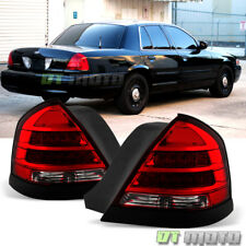 1998-2011 Ford Crown Victoria LED Tail Lights Lamps Black Trims 98-11 Left+Right