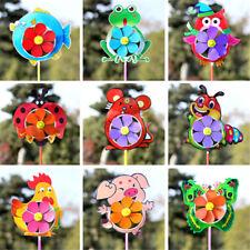 Plastic Wind Spinner Windmill Cute Cartoon Animals Kids Outdoor Toys_ Ly