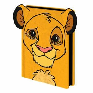 The Lion King Simba Premium Furry A5 Hardback Notebook Journal Exercise Book