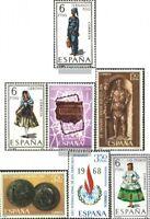 Spanien 1758,1759,1760-1762, 1763,1764 (kompl.Ausg.) postfrisch 1968 Sondermarke