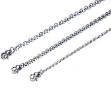 Lot 50pcs Silver Stainless Steel Fashion joint O Cross Chain Necklace Thin 1.5mm
