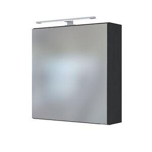 Spiegelschrank Badezimmerspiegel Badspiegel LED-Einbauleuchte 60 cm graphit-grau