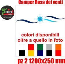 2 Adesivi per Camper 58X58 centimetri Rosa dei Venti